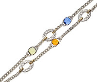 18Kt/Sterling Silver Double Bracelet