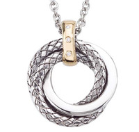 Sterling Silver Large Interlocking Traversa Pendant