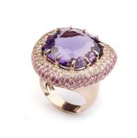Vancox Amethyst, Diamond, & Sapphire Ring