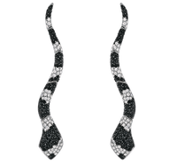 Van Der Bauwede 18K WG Sapphire & Diamond Snake Earrings 00165