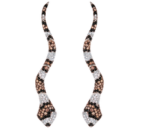 Van Der Bauwede 18K WG Sapphire & Diamond Snake Earrings 00163