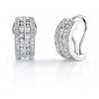 1.02ct Diamond Huggie Earrings