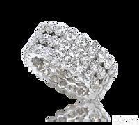Ziva 3-Row Diamond Eternity Ring
