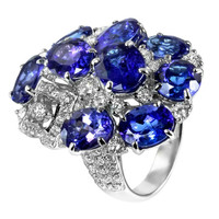Tanzanite & 2.00 ct Diamond Ring