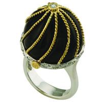 Smoky Quartz & .28 ct Diamond Fashion Ring