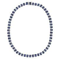 2.89ct Diamond & 34.95ct Ceylon Sapphire 14k W/g Necklace