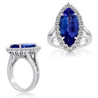 18k WG Tanzanite & Diamond Ring (rd 0.88ct, Tz 3.18ct)