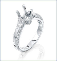 Gregorio Platinum Diamond Engagement Ring R-6383