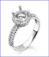 Gregorio Platinum Diamond Engagement Ring R-5526