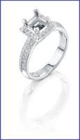 Gregorio Platinum Diamond Engagement Ring R-5517