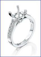 Gregorio Platinum Diamond Engagement Ring R-5047