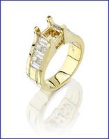 Gregorio 18K Yellow Gold Diamond Engagement Ring R-6893