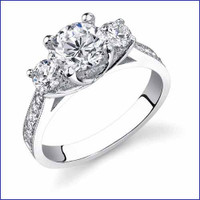 Gregorio 18K WG Diamond Ring R-475