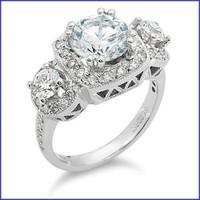 Gregorio 18K WG Diamond Ring R-299
