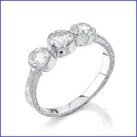 Gregorio 18K WG Diamond Ring R-0066