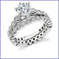 Gregorio 18K WG Diamond Engagement Set R-345