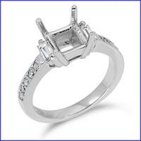 Gregorio 18K WG Diamond Engagement Ring R-6142