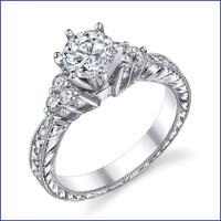 Gregorio 18K WG Diamond Engagement Ring R-541-1