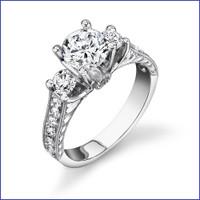Gregorio 18K WG Diamond Engagement Ring R-463