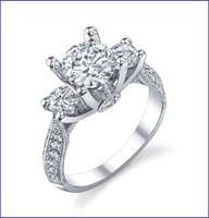 Gregorio 18K WG Diamond Engagement Ring R-456-1