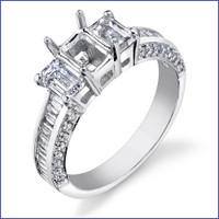 Gregorio 18K WG Diamond Engagement Ring R-444