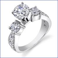 Gregorio 18K WG Diamond Engagement Ring R-443