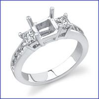 Gregorio 18K WG Diamond Engagement Ring R-395