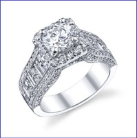 Gregorio 18K WG Diamond Engagement Ring R-304-1
