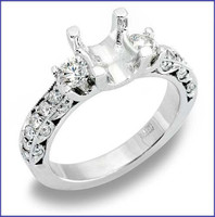 Gregorio 18K WG Diamond Engagement Ring R-200