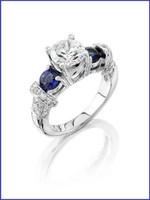 Gregorio 18K WG Diamond Engagement Ring R-1833E