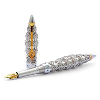 Jack Row Jaali Silver & Petrol Blue Diamond Pens