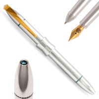 Jack Row City Silver & Blue Diamond Pens