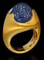 Mousson Atelier Caramel Collection Gold Sapphire & Diamond Ring R0034-0/6