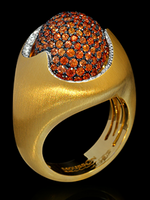 Mousson Atelier Caramel Collection Gold Sapphire & Diamond Ring R0034-0/5