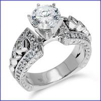 Gregorio 18K White Engagement Diamond Ring R-351