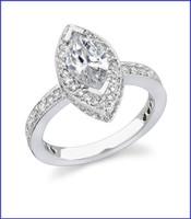 Gregorio 18K White Engagement Diamond Ring R-349