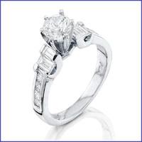 Gregorio 18K White Diamond Engagement Ring R-5482