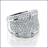 Gregorio 14K White Ladies Pave Setting Diamond Ring R-6932