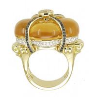 Citrine & 1.34 ct Diamond Ring