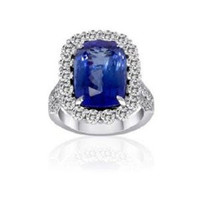11.07 Ct Tanzanite & Diamond Ring (rd 2.24ct, Tz 8.83ct)