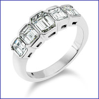 Gregorio 18K WG Diamond Band R-1799