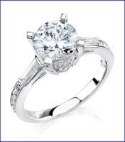 Gregorio 18K White Diamond Engagement Ring MTR-307