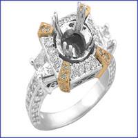 Gregorio 18K White Diamond Engagement Ring MTR-300