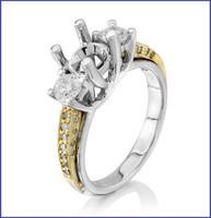 Gregorio 18K White Diamond Engagement Ring MTR-154