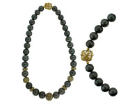Tahitian Pearls, 18K & 14K Gold With 17.04 ct Diamond Bead Necklace