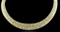 49.24 Carat Fancy Yellow & White Diamond Necklace SEN7080