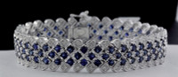 14.51 Carat Sapphire & Diamond Bracelet SEB5813
