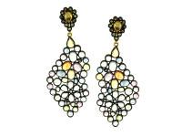 Multi Color Sapphire & 1.32 ct Diamond Earring