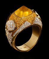 """Mousson Atelier Hi Jewellery Collection """"1000&1 Night"""" Gold Yellow Sapphire & Diamond Ring R0024-0/2"""