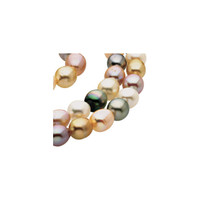 Baroque Graduated Pastel Multicolor Cultured Pearl Strands